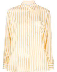 Ferragamo - ストライプ シルクシャツ - Lyst