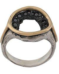 Tobias Wistisen Ring Verfraaid Met Kristallen - Metallic