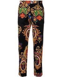 Dolce & Gabbana Broek Met Print - Zwart