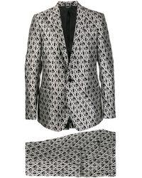 Dolce & Gabbana Jacquard Suit - White