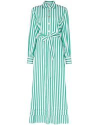 Evi Grintela Lily Striped Shirt Dress - Green