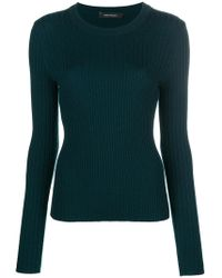 Cedric Charlier - Ribbed Slim-fit Jumper - Lyst