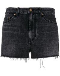 Saint Laurent Jeans-Shorts mit Verzierungen - Schwarz
