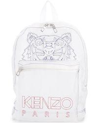 KENZO Grand sac à dos Tigre - Blanc