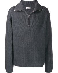 Acne Studios Zip-up Jumper - Gray