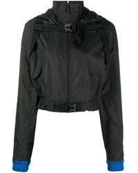 McQ クロップド ライトジャケット - ブラック