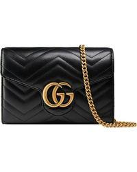 Gucci GG Marmont Matelassé Mini Tas - Zwart