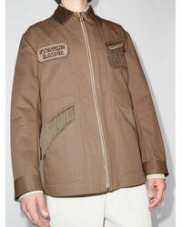 Nicholas Daley Patch-detailing Zip-up Shirt Jacket - Green