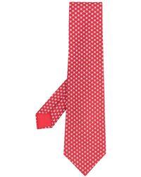Hermès Галстук 2010-х Годов С Геометричным Принтом Pre-owned - Красный