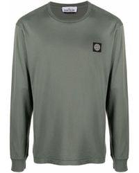 Stone Island ロゴパッチ Tシャツ - グリーン