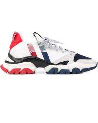 Moncler Sneakers Met Vlakken - Wit