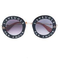Gucci Gafas de sol L'Aveugle Par Amour - Negro