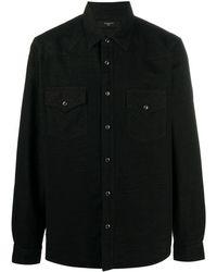 Amiri テクスチャードシャツ - ブラック