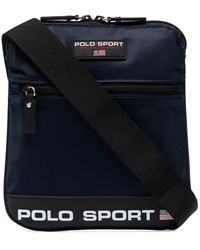 Polo Ralph Lauren Logo-print Cross Body Bag - Blue