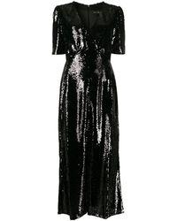 Saloni スパンコール ドレス - ブラック