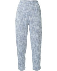 Rachel Comey Cropped-Hose mit geradem Schnitt - Blau