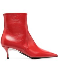 Furla Kitten-heel Ankle Boots - Red