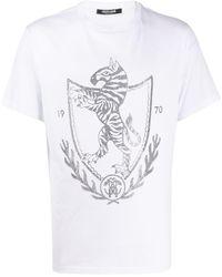 Roberto Cavalli - Декорированная Футболка - Lyst
