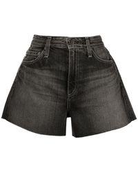 AG Jeans Short en jean Alexis à taille haute - Noir