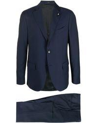 Lardini ツーピース シングルスーツ - ブルー