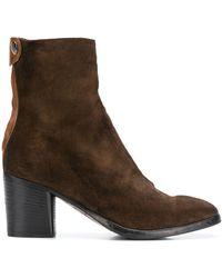 Alberto Fasciani - Block Heel Ankle Boots - Lyst