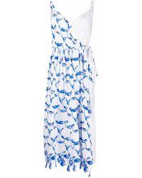 Rosie Assoulin アブストラクトプリント ラップドレス - ホワイト