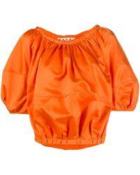 Marni Top con maniche a palloncino - Arancione
