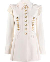 Alberta Ferretti Military Jacket - White