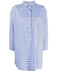 Henrik Vibskov Oversized Striped Shirt - Blue