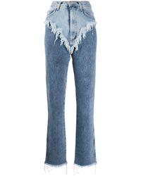 Natasha Zinko Jeans con effetto vissuto - Blu