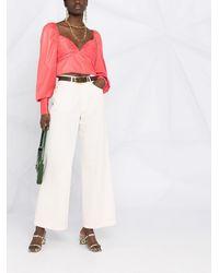 Forte Forte Jeans mit weitem Bein - Weiß