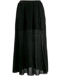 Sonia Rykiel プリーツスカート - ブラック