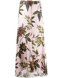 Dorothee Schumacher Powerful Flora Silk Skirt - Pink