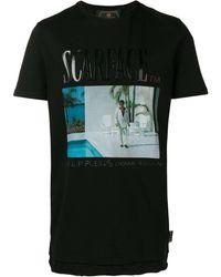 Philipp Plein Scarface Print T-shirt - Black