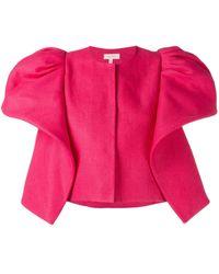 Delpozo ラッフル装飾 ジャケット - ピンク