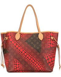 Louis Vuitton Pre-owned Neverfull Mm Draagtas - Rood