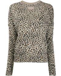 Zadig & Voltaire Brume Leopard-print Jumper - Brown