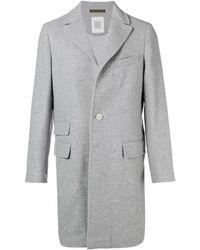 Eleventy Single Breasted Coat - Grey
