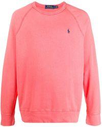 Polo Ralph Lauren Sweat à logo contrastant - Rose