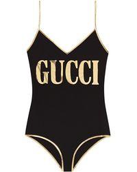 Gucci Badpak Met Print - Zwart