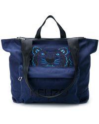 KENZO Tiger Holdall - Blue