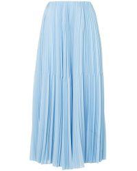 Astraet - Pleated Midi Skirt - Lyst
