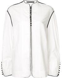 Haider Ackermann オーバーサイズボタン ジャケット - ホワイト