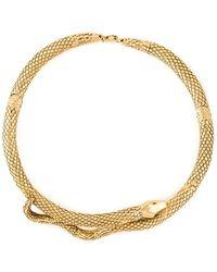Aurelie Bidermann 'tao' Snake Necklace - Metallic