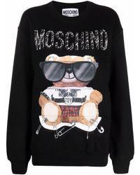 Moschino テディベア スウェットシャツ - ブラック