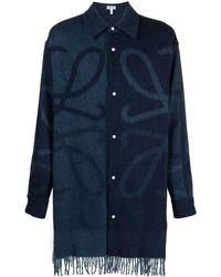 Loewe Рубашка С Принтом Anagram - Синий