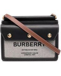 Burberry Мини-сумка Через Плечо С Узором Horseferry - Черный