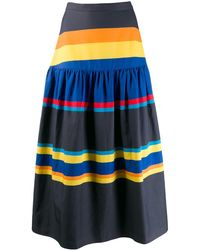 Chinti & Parker ストライプ スカート - ブルー