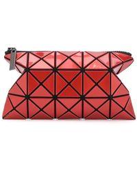 Bao Bao Issey Miyake Geometric Zipped Wallet - Red