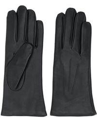 N.Peal Cashmere Lined Gloves - Black
